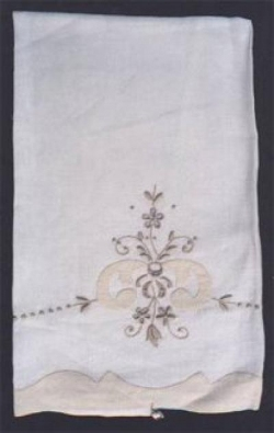 Ecru Applique and Embroidery