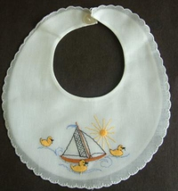 #Ducks & Sailboat Bib#