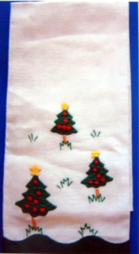 #Christmas Trees Guest Towel#